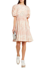Simone Rocha Printed silk mini dress