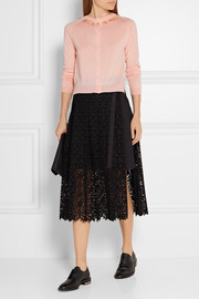 Simone Rocha Embellished merino wool, silk and cashmere-blend cardigan