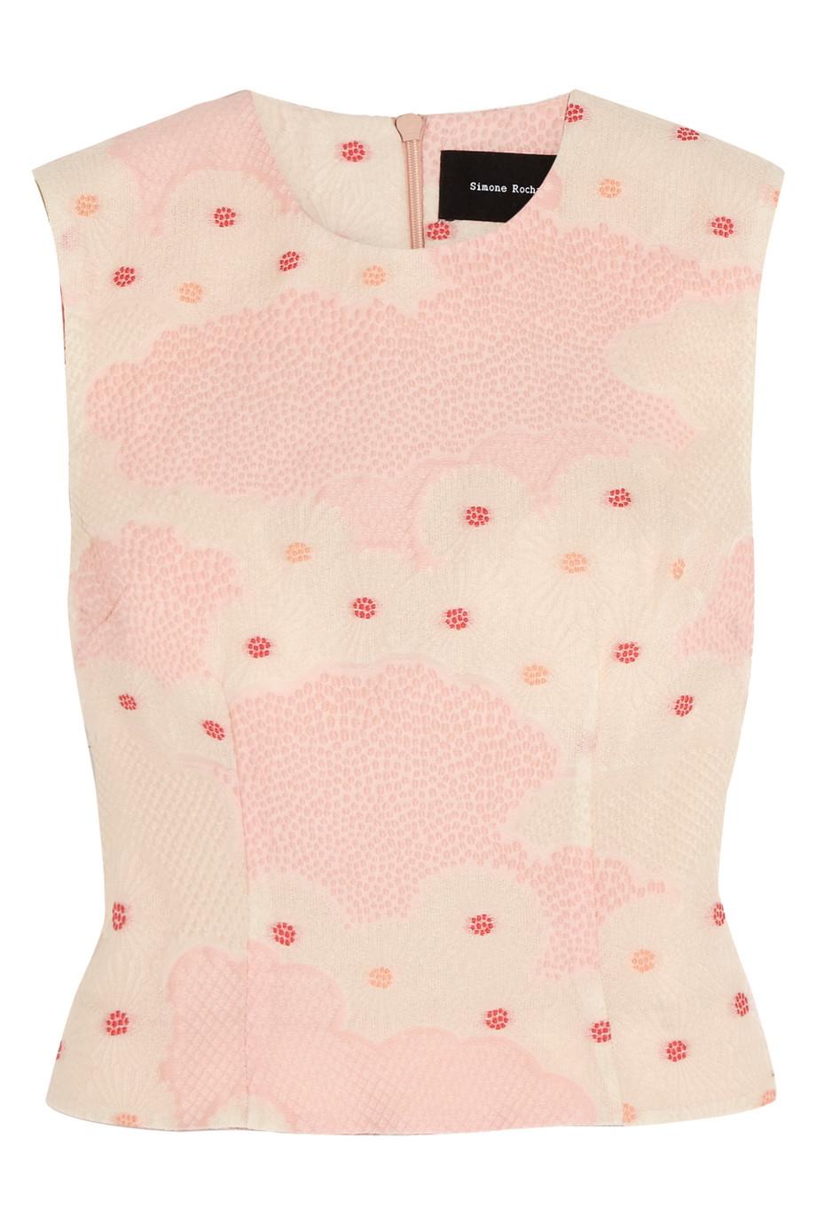 Simone Rocha Cloqué Top, Pink, Women's, Size: 6