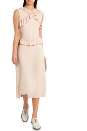 Simone Rocha Ruffle-trimmed stretch-crepe dress