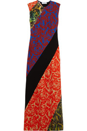 Renee sequined floral-print satin-crepe maxi dress