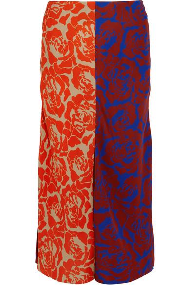Jonathan Saunders - Carine Paneled Printed Crepe Skirt - Multi