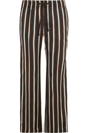 Lou Lou striped satin wide-leg pants