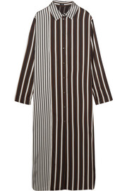 Hetty striped satin shirt dress
