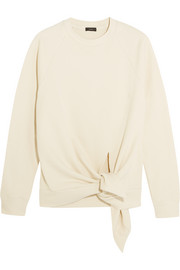 Knot cotton-jersey sweatshirt