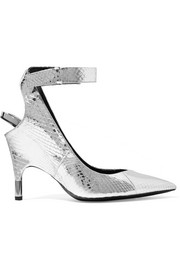 Metallic watersnake pumps