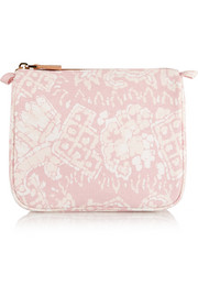 Rose Batik medium printed cotton-canvas cosmetics case