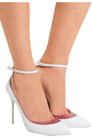 Jimmy Choo Luc PVC-trimmed leather pumps