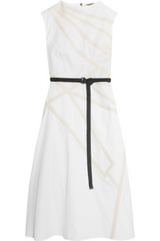 Bottega Veneta Belted cotton-poplin dress