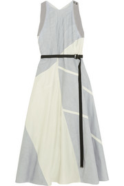 Bottega Veneta Belted patchwork taffeta dress