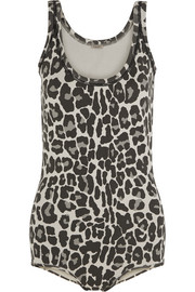 Bottega Veneta Leopard-print cotton-blend bodysuit