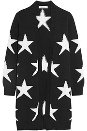Star-intarsia cotton-blend cardigan