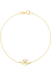 Jennifer Meyer Four-leaf clover 18-karat gold diamond bracelet