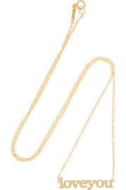 Jennifer Meyer Love You 18-karat gold necklace