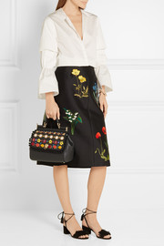Sicily medium embellished textured-leather tote