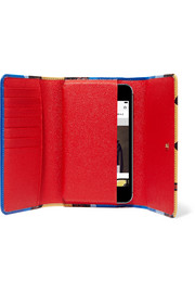 Firenze printed textured-leather iPhone 6 Plus wallet