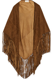 Fringed suede wrap