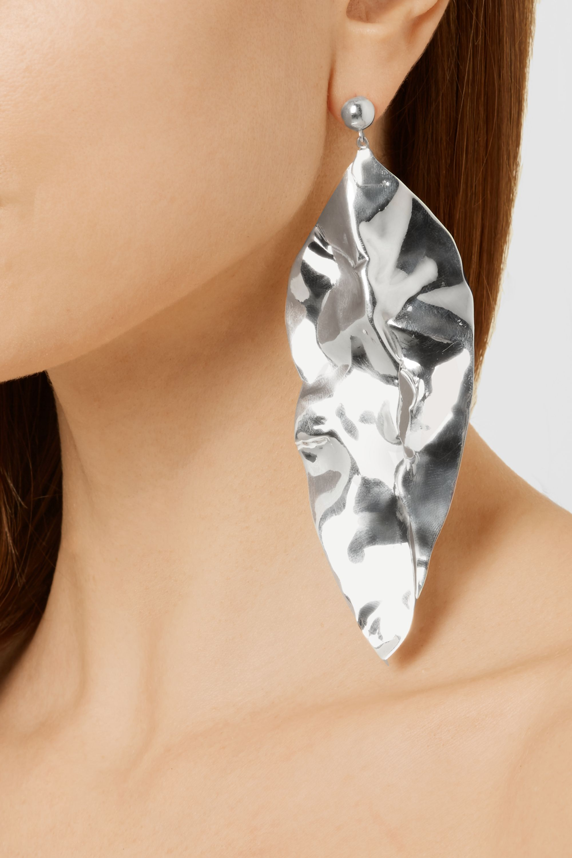 Sophie Buhai Wilke hammered silver earrings