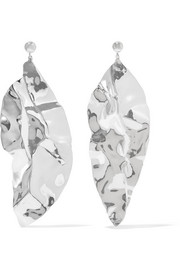 Wilke hammered silver earrings