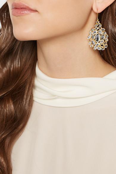 Pippa Small 18 Karat Gold Herkimer Diamond Earrings