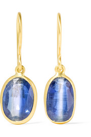 18-karat gold kyanite earrings