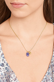 Pippa Small 18-karat gold tanzanite necklace