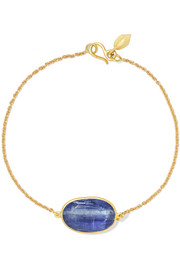 18-karat gold kyanite bracelet
