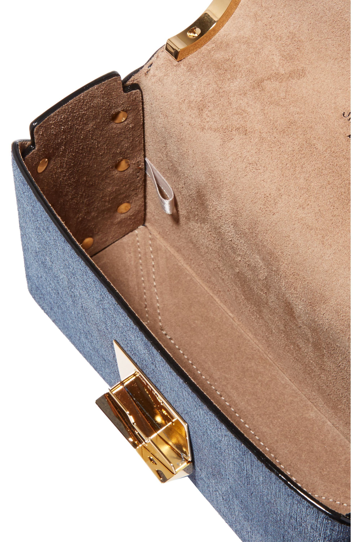 Jimmy Choo Lockett small denim shoulder bag
