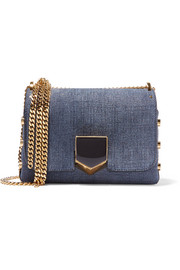 Jimmy Choo Lockett small denim shoulder bag