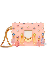 Lockett embellished acrylic clutch