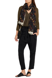 Isabel Marant Printed modal and cashmere-blend scarf