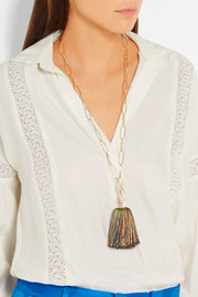 Isabel Marant Gold-plated tasseled necklace