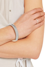 Silver-plated leather bracelet