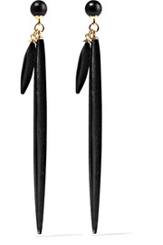 Isabel Marant Gold-plated wood earrings