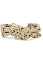 Isabel Marant Knotted silver-tone cord bracelet