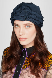 Knotted silk turban