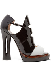 Fendi Patent and matte-leather sandals