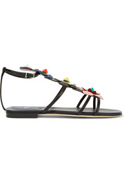 Fendi Appliquéd leather sandals