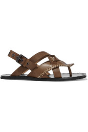 Bottega Veneta Embroidered woven leather sandals