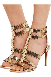Alaïa Metallic laser-cut leather sandals