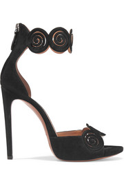 Alaïa Laser-cut suede sandals
