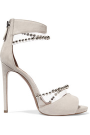 Alaïa Bead-embellished PVC and suede sandals