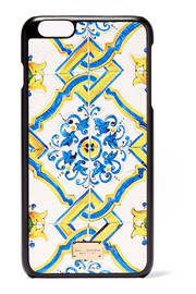 Dolce & Gabbana Printed textured-leather iPhone 6 Plus case