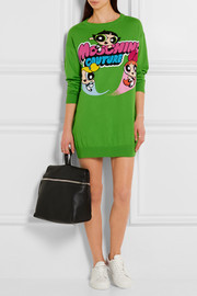 Moschino Intarsia cotton sweater dress