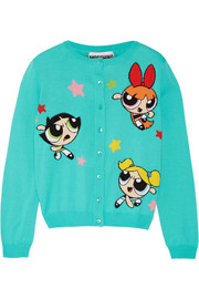 Moschino Intarsia cotton cardigan