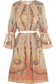 Printed silk-georgette dress