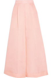 DELPOZO Silk-organza wide-leg pants