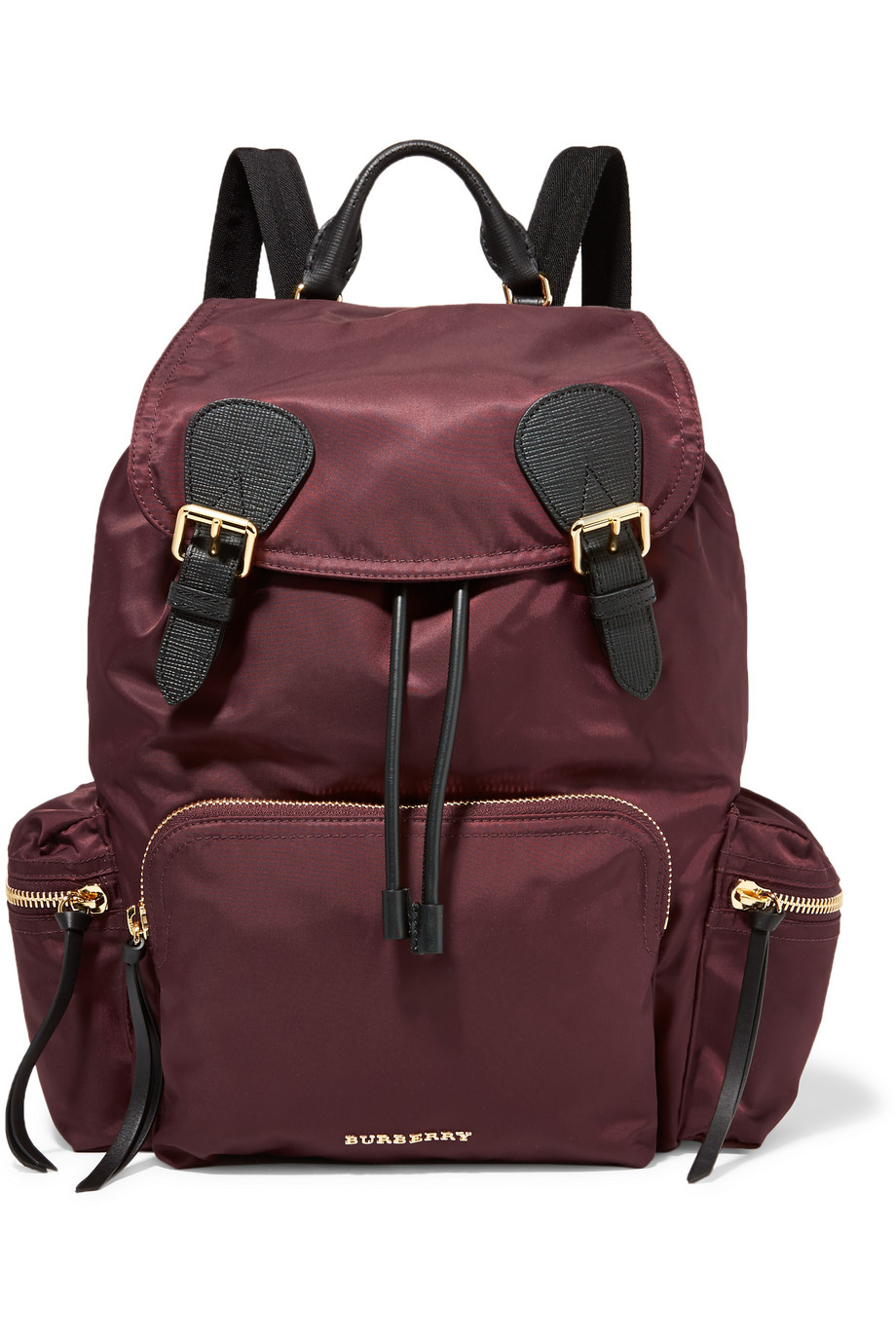 Leather-Trimmed Shell Backpack, Burberry Prorsum
