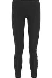 IVY PARK Printed stretch cotton-blend jersey leggings
