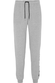 IVY PARK Printed cotton-blend terry track pants